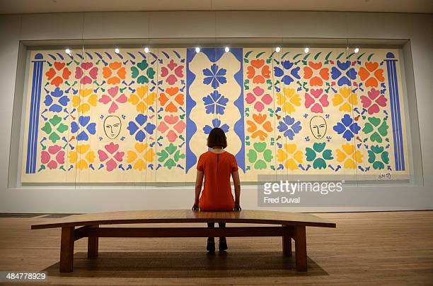 Guest attends the Press Preview for the exhibition Henri Matisse: the cut-outs at Tate Modern on April 14, 2014 in London, England.