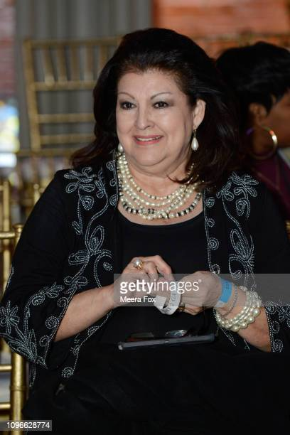 A guest attends the runway for TRICO FIELD At New York Fashion Week Powered By Art Hearts Fashion NYFW at The Angel Orensanz Foundation on February 9...