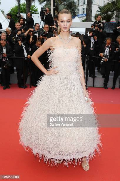 A guest attends the screening of 'Burning' during the 71st annual Cannes Film Festival at Palais des Festivals on May 16 2018 in Cannes France