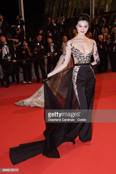 A guest attends the screening of 'Leto' during the 71st annual Cannes Film Festival at Palais des Festivals on May 9 2018 in Cannes France