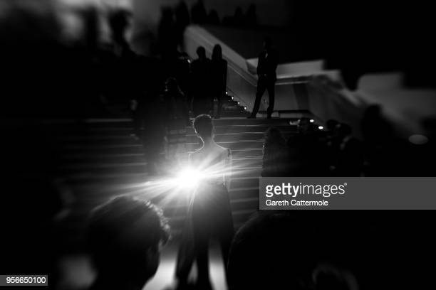 A guest attends the screening of 'Leto' during the 71st annual Cannes Film Festival at on May 9 2018 in Cannes France