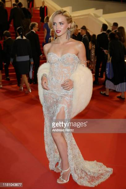 A guest attends the screening of The Gangster The Cop The Devil during the 72nd annual Cannes Film Festival on May 22 2019 in Cannes France