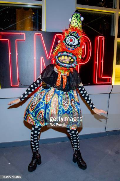 A guest attends the Susanne Bartsch and David Barton's Toy Drive at TMPL West Village at TMPL West Village on December 14 2018 in New York City