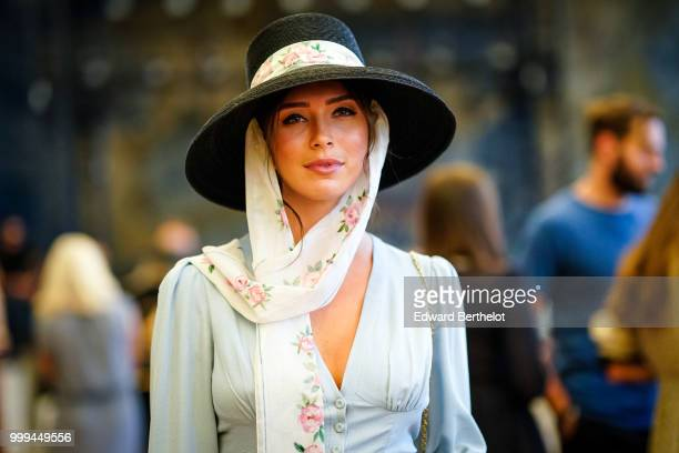 A guest attends the Ulyana Sergeenko Haute Couture Fall Winter 2018/2019 show as part of Paris Fashion Week on July 3 2018 in Paris France