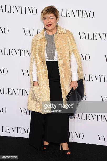 A guest attends the Valentino Sala Bianca 945 Event on December 10 2014 in New York City