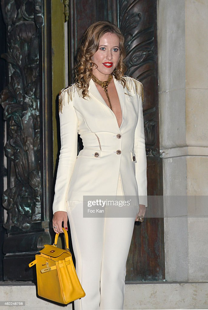 A guest attends the Versace show as part of Paris Fashion Week Haute Couture Spring/Summer 2015 on January 25, 2015 in Paris, France. .