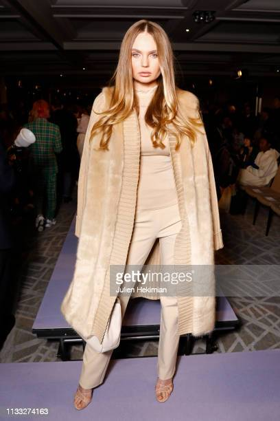 Guest attends the Vivienne Westwood show as part of the Paris Fashion Week Womenswear Fall/Winter 2019/2020 on March 02, 2019 in Paris, France.