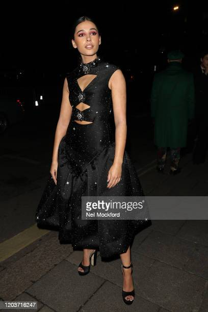 Guest attends the Vogue x Tiffany Fashion Film after party for the EE British Academy Film Awards 2020 at Annabel's on February 02 2020 in London...