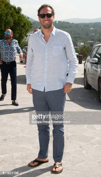 Guest attends the wedding of Guillermo Ochoa and Karla Mora on July 8 2017 in Ibiza Spain