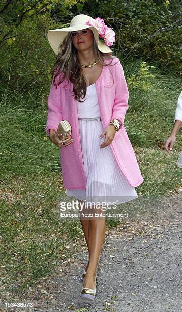 Guest attends the wedding of Juan Pablo Shuk and Ana De La Lastra on September 22 2012 in Biescas Spain