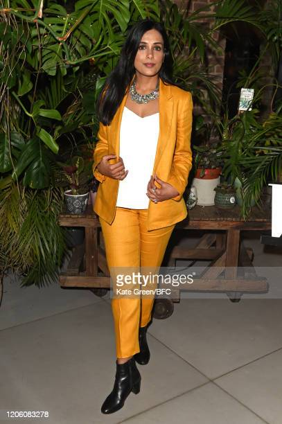 A guest attends the Wolf Badger 10th Year Anniversary party during London Fashion Week February 2020 at Coal Drops Yard on February 13 2020 in London...