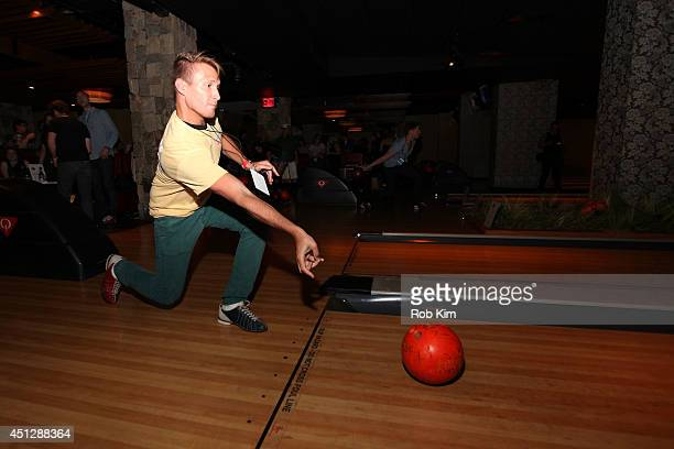 Guest attends TJ Martell Foundation's NY Bowling Bash Chaired by DJ Sean Glass at Bowlmor Times Square on June 26 2014 in New York City