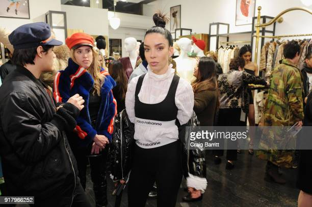 A guest attends Vintage For The Future A Norma Kamali Retrospective by What Goes Around Comes Around on February 13 2018 in New York City
