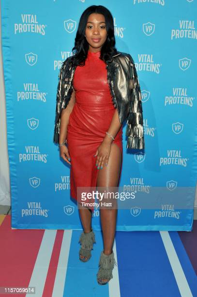 Guest attends Vital Proteins Collagen Water Launch Party at Millennium Park on June 19 2019 in Chicago Illinois
