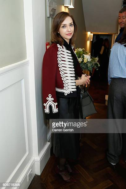 Guest attends Vogue Voice of a Century launch at Matches Fashion on September 20, 2016 in London, England.