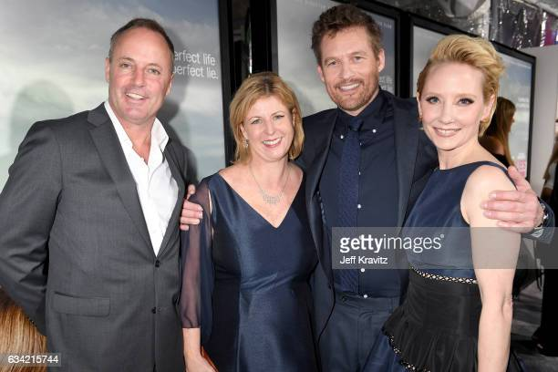 Guest author Liane Moriarty and actors James Tupper and Anne Heche attend the premiere of HBO's 'Big Little Lies' at the TCL Chinese Theater on...