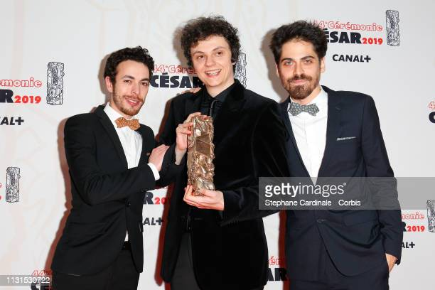 Guest Ayce Kartal and Damien Megherbi winners of the award for Best Short Animated Movie award for the movie 'Vilaine Fille' during the Cesar Film...
