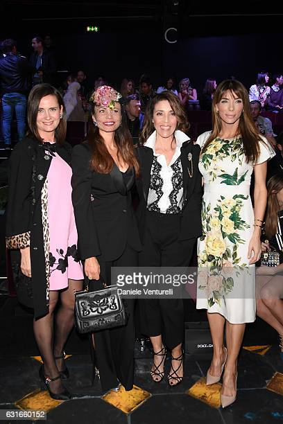 Guest Beata Ben Ammar Gina Dallas and Jennifer Stallone attend the Dolce Gabbana show during Milan Men's Fashion Week Fall/Winter 2017/18 on January...