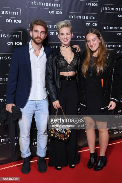 A guest Bebe Vio and Maria Sole Vio attend Intimissimi On ice 2017 on October 6 2017 in Verona Italy