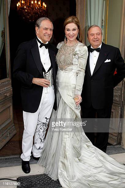 Guest Becca Cason Thrash and Xavier Guerrand Hermes attend the 'Liaisons Au Louvre II' Charity Gala Dinner at Musee du Louvre on June 14 2011 in...
