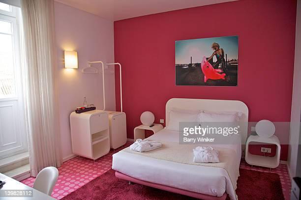Guest bedroom at International Design Hotel, Lisbon, Portugal