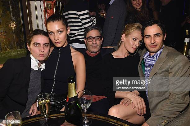 Guest Bella Hadid Jason Weinberg Uma Thurman and Zac Posen attend as Marc Jacobs Benedikt Taschen celebrate NAOMI at The Diamond Horseshoe on April 7...