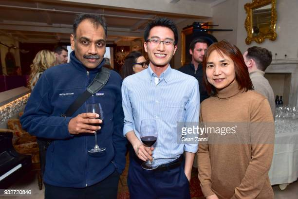 Guest Bernard Yiu and Jessica Wan attend 'The Initiation' Book Launch at Bouley TK on March 15 2018 in New York City