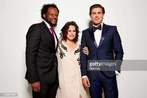 Guest Beth Morgan and Chris Lowell attend the 21st Costume Designers Guild Awards x Getty Images Portrait Studio presented by LG V40 ThinQ on...