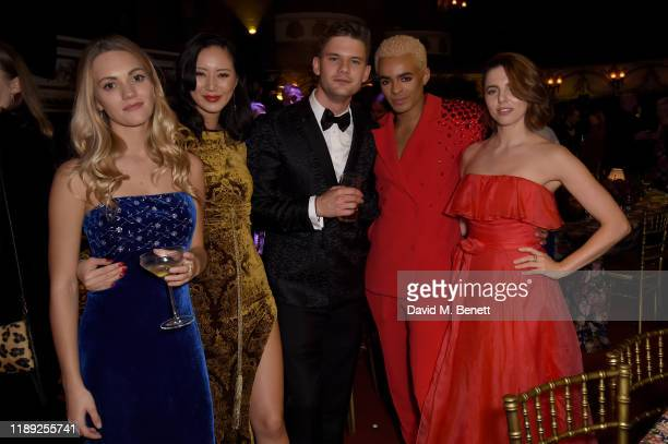 Guest Betty Bachz Jeremy Irvine Layton Williams and Ophelia Lovibond attend the after party of the 65th Evening Standard Theatre Awards In...