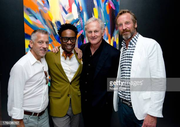 Guest Billy Porter Victor Garber and Rainer Andreesen attend Monday Musicals at XL Cabaret on August 12 2013 in New York City