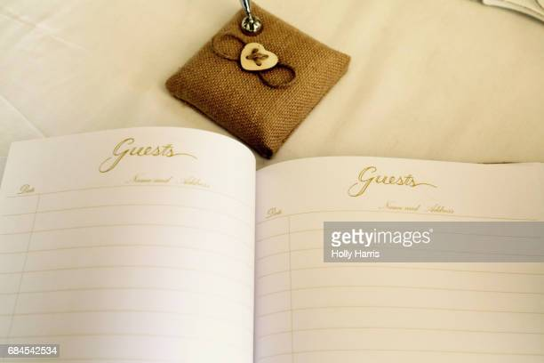 Guest book, blank pages