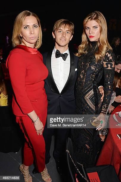 Guest Brandon Green and Maryna Linchuk attend amfAR's 21st Cinema Against AIDS Gala presented by WORLDVIEW BOLD FILMS and BVLGARI at Hotel du...