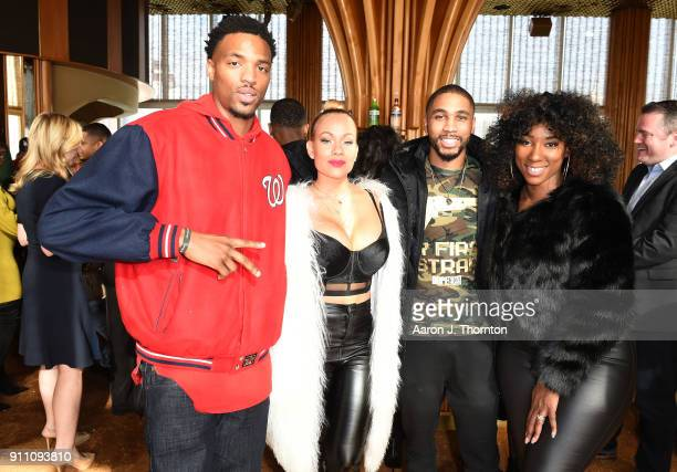 Tyran Donaldson Brave Williams and Brittany B attend the 2018 ASCAP Grammy Nominees Reception at Top of The Standard Hotel on January 27 2018 in New...