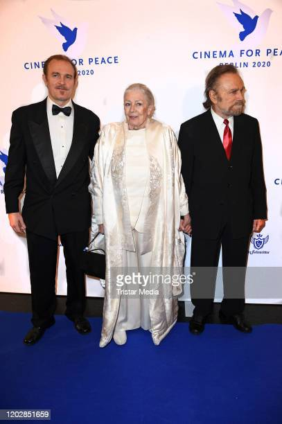 Guest british actress Vanessa Redgrave and her husband italian actor Franco Nero attend the Cinema for peace gala 2020 during the 70th Berlinale...