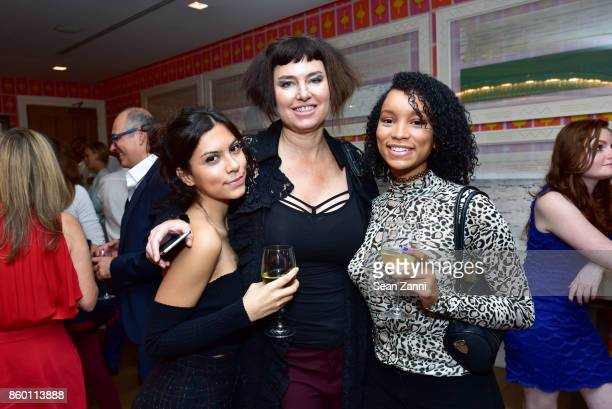 Guest Caron Bernstein and Cyrenae Tavemy attend the launch of The Collector Geneva's Sophie Bonvin Code Collection in Collaboration with artist Bill...