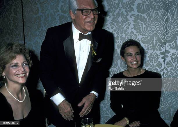 Guest Cary Grant and Barbara Harris during George Burns 85th Birthday Party at Beverly Hilton Hotel in Beverly Hills California United States