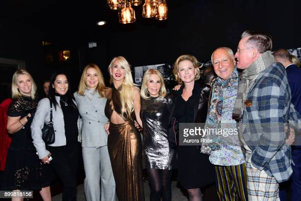 Guest Cassandra Seidenfeld Guest Tracy Stern Andrea Wernick Guest Ben Minchin and Montgomery Frazier attend Tracy Stern hosts holiday party at...