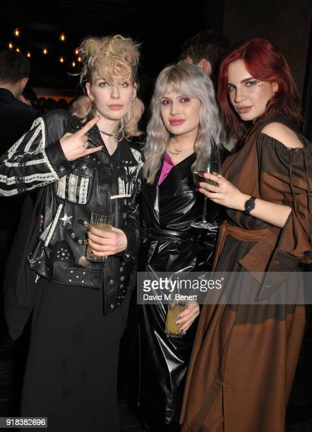 Guest Cassyette and Nikita Andrianova attend the Copper Dog NME Awards 2018 after party at Kadie's Cocktail Bar and Club on February 14 2018 in...