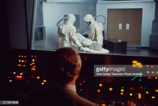 Guest cast in hi-tech / sci-fi control room appearing in the ABC tv movie 'Live Again, Die Againl'.