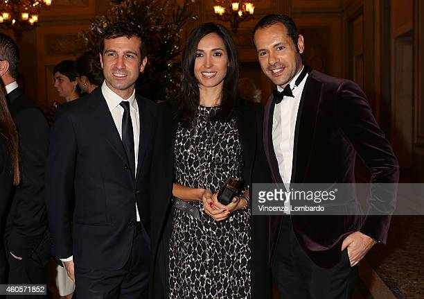Guest Caterina Balivo and Massimiliano Giornetti attend the Fondazione IEO CCM Christmas Dinner For on December 16 2014 in Monza Italy