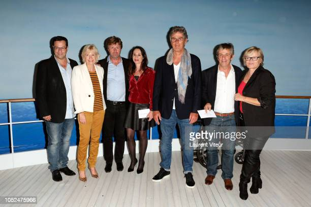 Guest Catherine Ceylac Richard Caillat Isabelle Le Nouvel Dominique Desseigne Stephane Hillel and Guest attend Skorpios au Loin Theater Play Prize...
