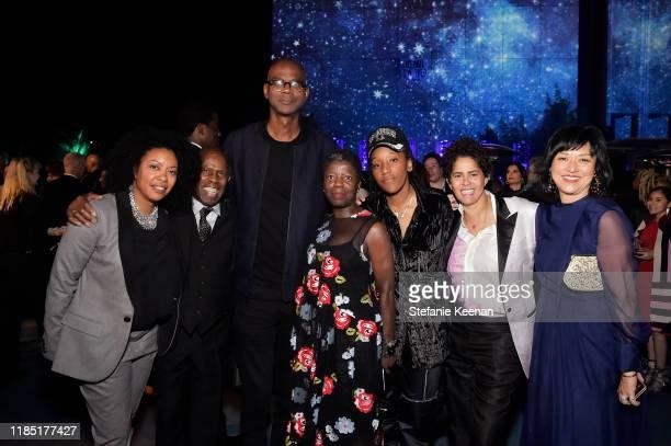 Guest Charles Gaines Mark Bradford Thelma Golden Lauren Halsey Julie Mehretu and Christine Y Kim attend the 2019 LACMA Art Film Gala Presented By...