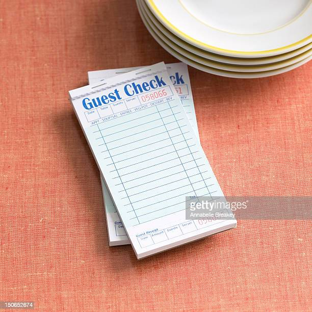 Guest Check on Diner Table