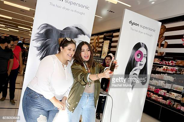 Guest check out the new Dyson Supersonic and take selfies with celebrity hair stylist Jen Atkin's during her personal appearance with Dyson in...