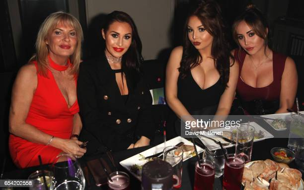 guest Chloe Goodman Amelia Goodman and Lauryn Goodman attend the VIP launch of the London Cabaret Club's London Never Dies at the Bloomsbury Ballroom...