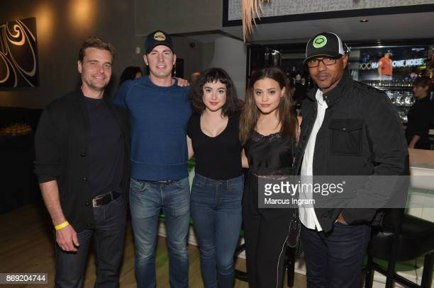 Guest Chris Evans Sarah Gilman Sarah Jeffreys and guest attend the Xbox One X Launch Event at 5Church on November 1 2017 in Atlanta Georgia