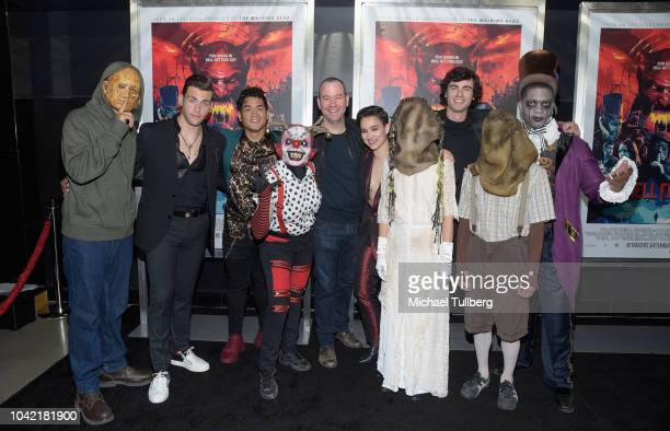 Guest Christian James Matt Mercurio guest Greg Plotkin Bex TaylorKlaus guest Roby Attal and guests attend a special screening of CBS Films and...