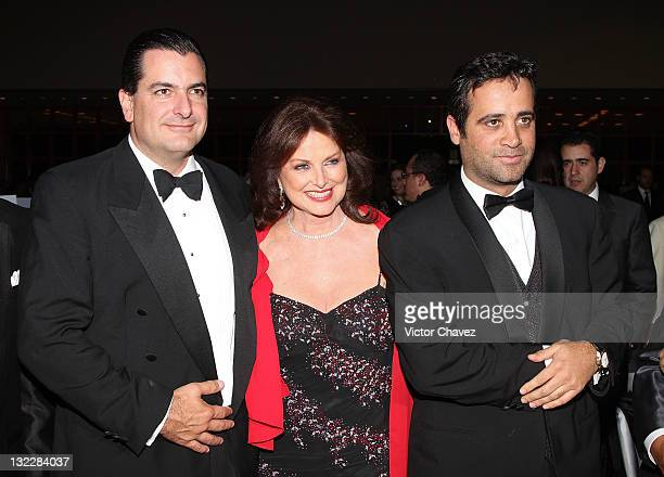 Guest Christiane Magnani and Boby Slim attend the Miss France 2012 gala night at the Hotel Camino Real on November 10 2011 in Mexico City Mexico