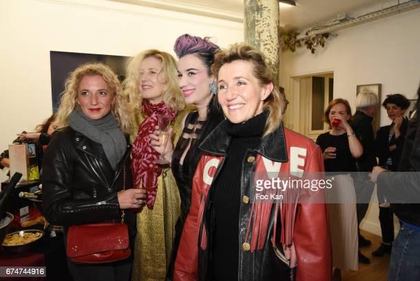 A guest Christine BergstromÊLeibowitch Gaelle GirreÊand Sylvie Bourgeois HarelÊattend Gabrielle Lazure 'Sixteen' Birthday Party at Galerie 18 Bis on...