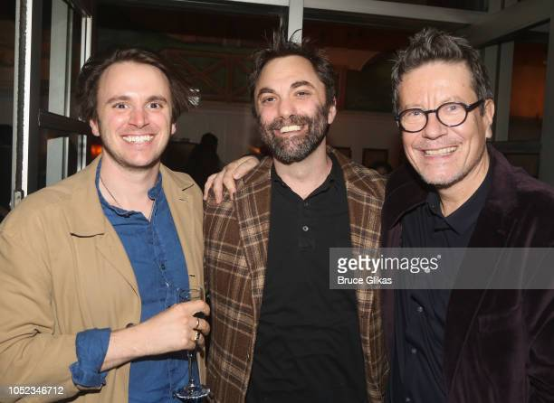 Guest Christopher Shinn and Playwright Alexi Kaye Campbell pose at the opening night after party for the Roundabout Theater Company play 'Apologia'...